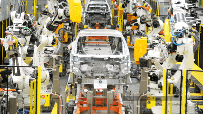 1 - Automotive manufacturing overtakes food industry for the first time