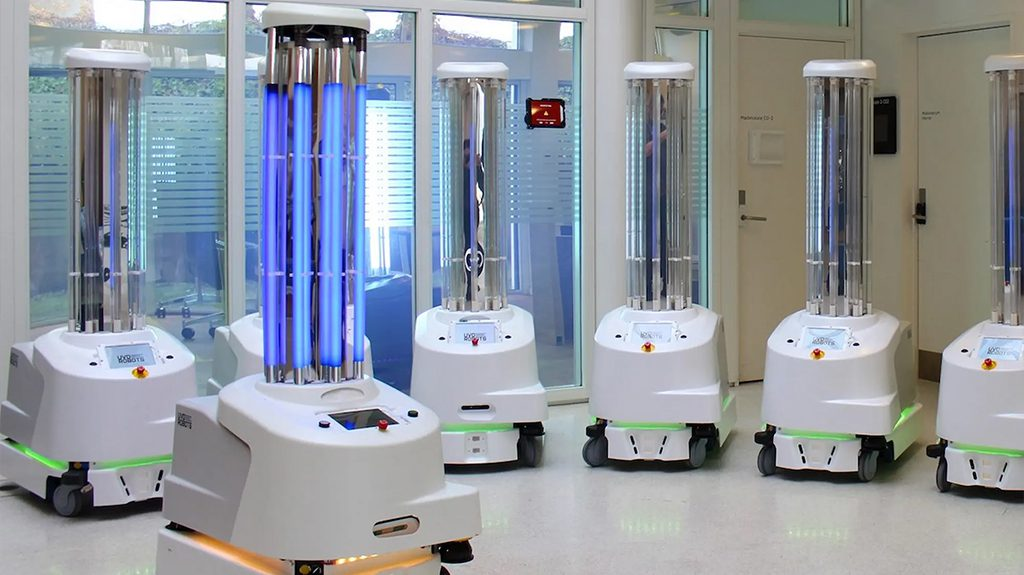 1 5 - In Coronavirus Fight, Robots Report For Disinfection Duty