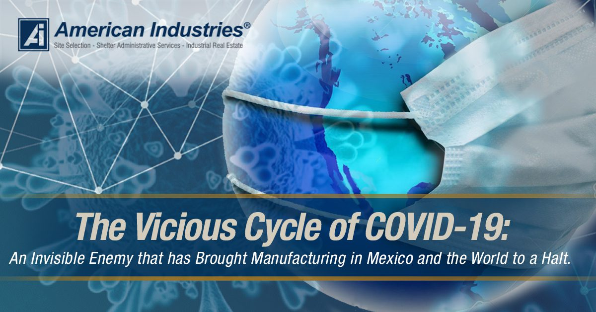 covid circle - The Vicious Cycle of COVID-19: An Invisible Enemy that has Brought Manufacturing in Mexico and the World to a Halt